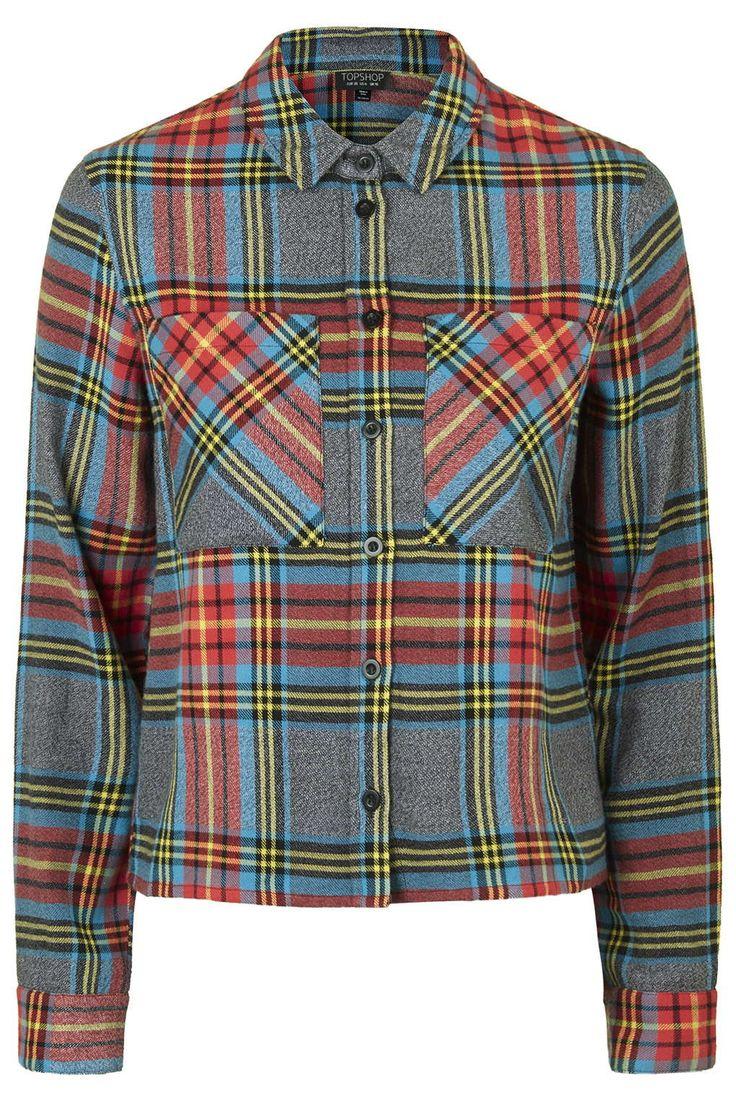 Bright Tartan Check Shirt - Topshop