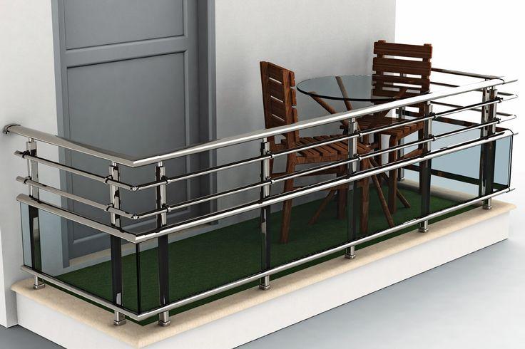 RS45 Oval Balustrades, Eksen Metal Special Design!  -- #aluminium #aluminum #aluminium_balustrades #aluminium_railing #oval #elliptic #fences #glass_railing #Eksen #silver #railing_system #railing #handrail