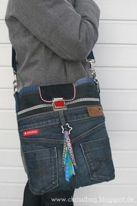 chrissibag: Collegetasche Mari - the upcycling project!