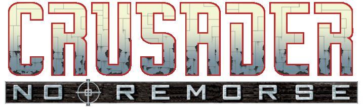 Logo abandonné de Crusader : No Remorse (mais très proche du logo final) et qui semble avoir été repris pour Crusader : No Regret..                                                                                                                                                                                 More