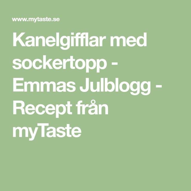 Kanelgifflar med sockertopp - Emmas Julblogg - Recept från myTaste