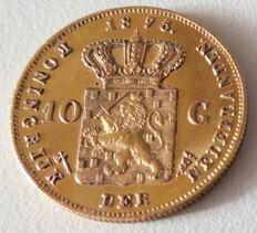 Nederland - 10 gulden 1875 Willem III - goud