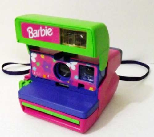 LN Vintage Polaroid Barbie Pink Instant 600 Film Camera - Mint