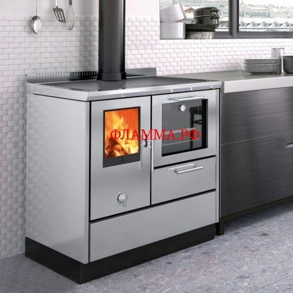 Печь-плита KE 80 W, нерж. сталь (EdilKamin) EDILKAMIN (Италия) на печном складе ФЛАММА  отдадим по цене 220000.00 RUB    ПЕЧЬ-ПЛИТА KE 80 W, НЕРЖ. СТАЛЬ (EDILKAMIN)   Отопительно-варочная печь-плита KE 80 W демонстрирует высокие технологии мировой отопительной индустрии вкупе с изысканным итальянским дизайном, надежностью и производительностью. Данная модель номинальной мощностью в 7,1 кВт обеспечивает очень высокий КПД в почти 80%, что гарантирует качественное отопление пространств до 185…