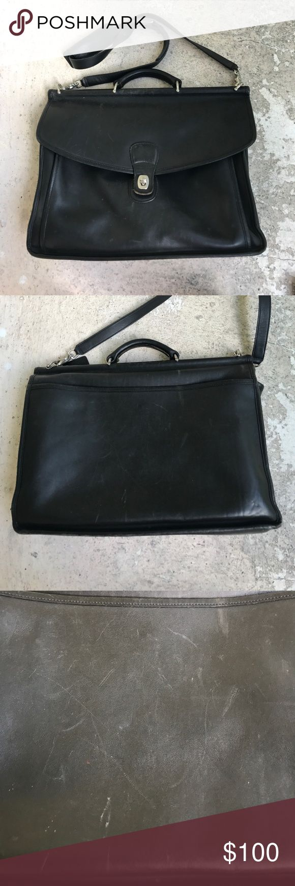 Coach Briefcase This coach is in very good condition but it has some slight wear that will polish out otherwise it is very clean and good all around Coach Bags Briefcases
