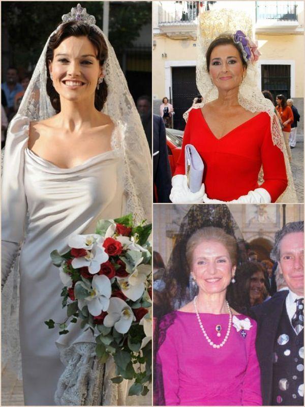 La actriz Pilar Abella, la duquesa de la Fernandina y Carmen Tello.