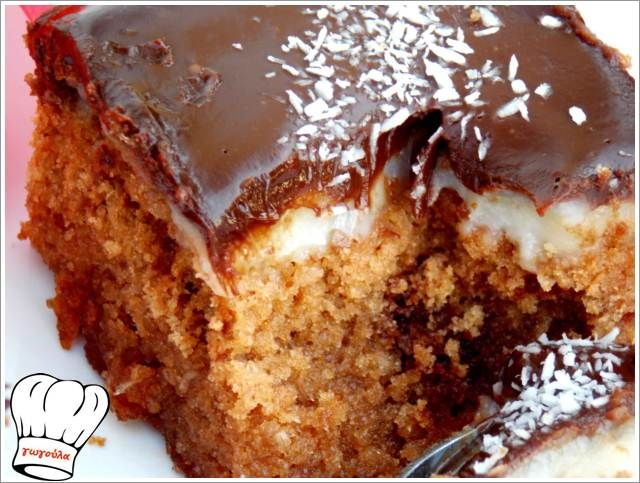 ΚΕΙΚ ΚΑΡΥΔΑΣ ΜΕ ΚΡΕΜΑ ΚΑΡΥΔΑΣ ΚΑΙ ΣΟΚΟΛΑΤΑ ΓΚΑΝΑΖ!!! | Νόστιμες Συνταγές της Γωγώς