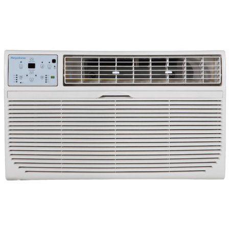 Keystone 12,000-BTU 230V Through-the-Wall Air Conditioner with 10,600-BTU Supplemental Heat Capability, White