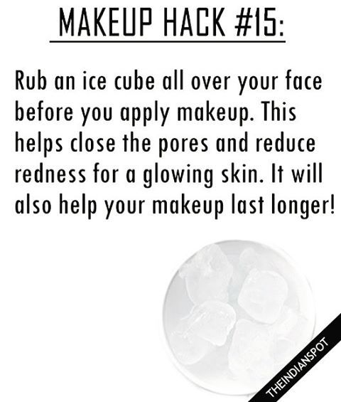 To make your makeup last longer, try rubbing an ice cube on your face before you…