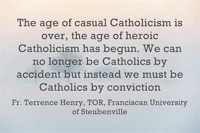 Wakeup Lukewarm Catholics and get ready for the battle! We must learn our faith to defend our faith.