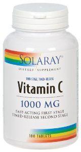 Solaray - Vitamin C Time Release, 1000 mg, 100 tablets by Solaray. $9.57