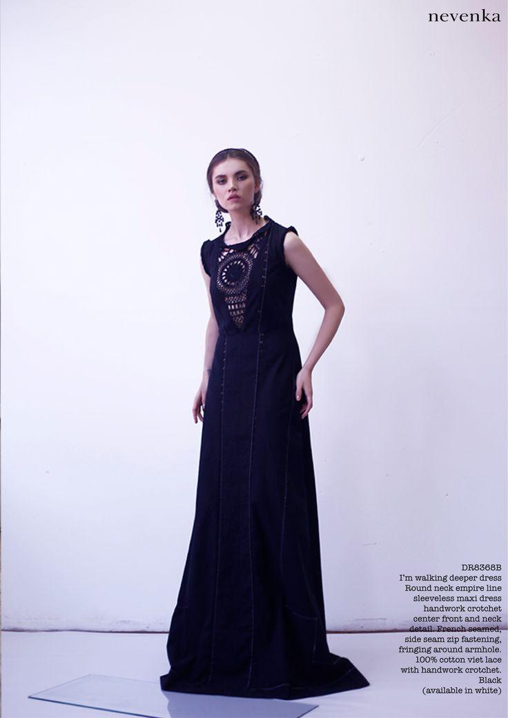 NEVENKA AW14 LONE WOLF COLLECTION #fashion #a/w #designer #nevenka #lookbook #photoshoot #editorial #beautiful # luxury #luxe #beauty # fashioninspo #goddess #lonewolf #studio #dark #black #gown www.nevenka.com.au