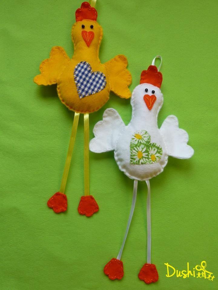 Ostern- Hühner aus Filz