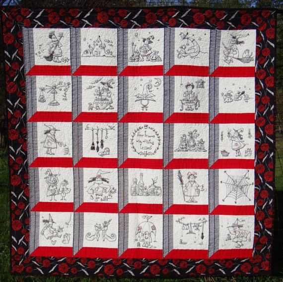 25 embroidery patterns  witchy life quilt by mikionostudio on Etsy