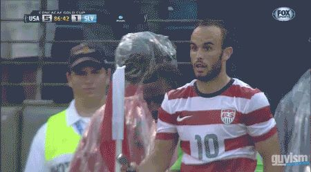 Landon Donovans Deal with It moment interrupted by overzealous official