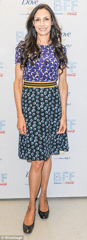 Not afraid of prints: The Taken trilogy star is obviously quite taken with her printed frocks and was seen, left, wearing the same blue one on May 5 and another pink dazzler on January 8