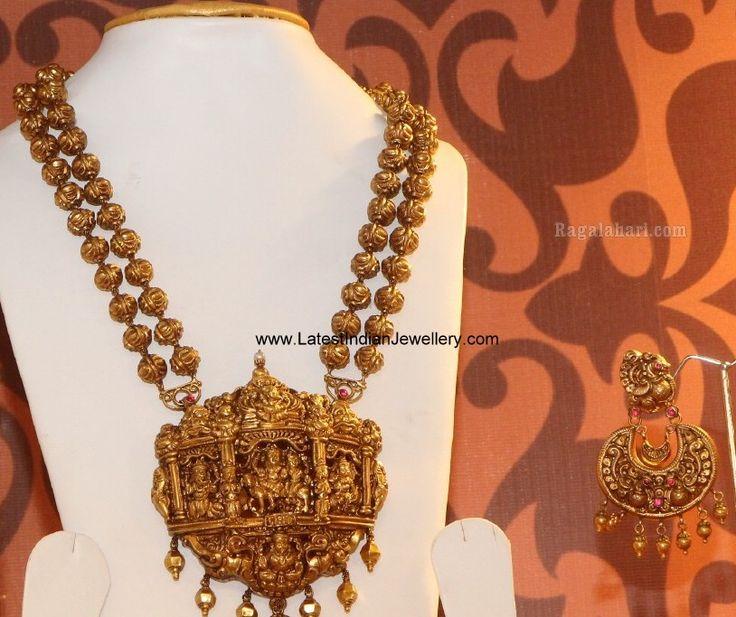 Nakshi Gold Balls Haram Chandbalis