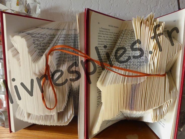 14 best images about livres pli s d 39 aline pliage de livres on pinterest minis coeur d 39 alene. Black Bedroom Furniture Sets. Home Design Ideas