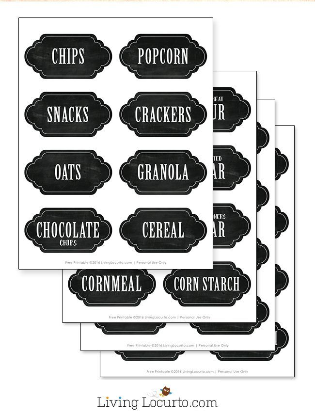 17 best ideas about Pantry Labels on Pinterest | Organized pantry ...
