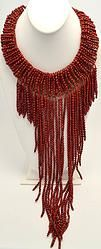 Handmade Red Crystal Choker with Genuine Crystal