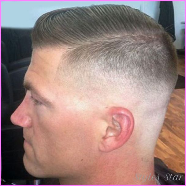 nice Medium fade haircut military