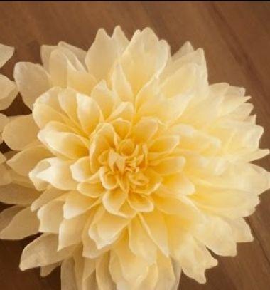 Beautiful giant dahlias from crepe paper // Gyönyörű papír dáliák krepp papírból - tavaszi dekoráció  // Mindy - craft tutorial collection