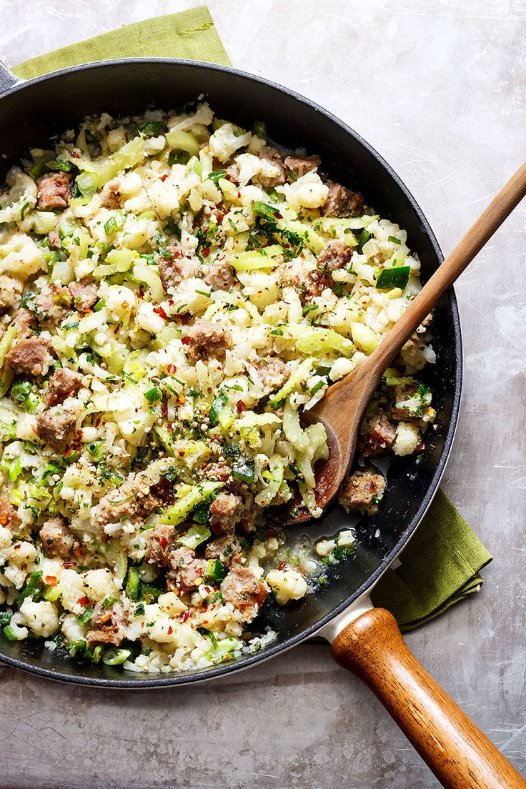 Need a quick dinner option for tonight? This sausage cauliflower fried rice will make you ditch your takeout menus forever.