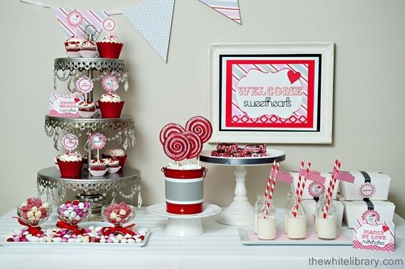 Sweet table vintage valentine dessert tables favours - Decoraciones para san valentin ...