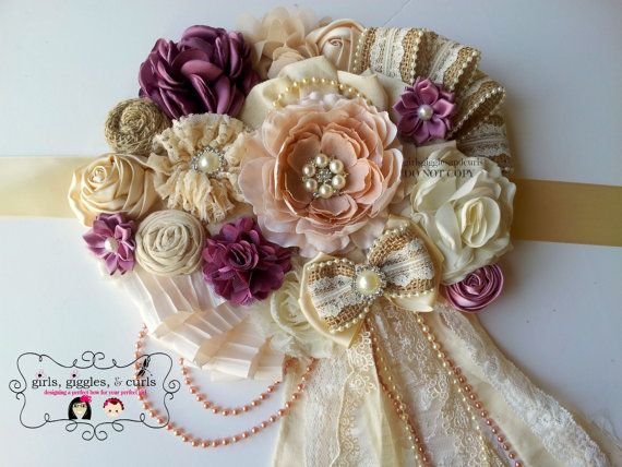 Maternity Sash Maternity Belt Bridal Sash by girlsgigglesandcurls