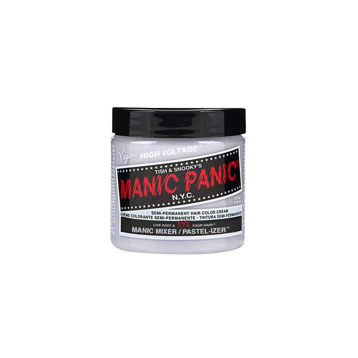 Kleurloze creme, ideaal voor het mengen van Manic Panic kleuren om zo je eigen tint te maken. Voor het maken van een pastel tint van een Manic Panic haarkleur doe je een ruime hoeveelheid van deze creme in een mengkom en voeg je geleidelijk je gewenste haarkleur toe. Geschikt voor zowel de Cream Classic of Amplified haarverf van Manic Panic. Test jouw gemixte kleur altijd eerst even op een lok haar om het resultaat vooraf te kunnen bekijken en om de kleur eventueel nog aan te passen.  Niet…