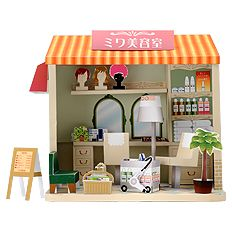 Beauty Salon Diorama. Click on the link for free template. http://paperm.jp/craft/dollhouse/hairsalon/index.html