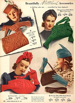 From Tuppence Ha'penny... I'm reminded I could really stand more color matching in my wardrobe! #vintage