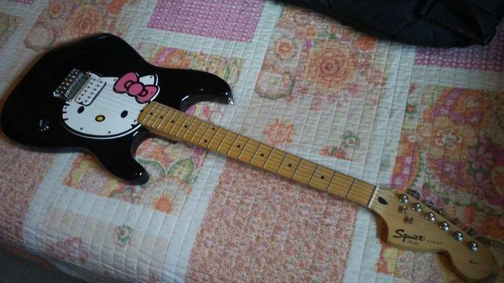 #HelloKitty #Fender Squier Strat #guitar #Musical #Instruments - #NorthAugusta, SC at #Geebo