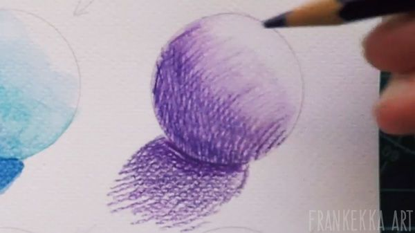 Shading Techniques - Watercolor pencils. by frankekka - Video at LINK.