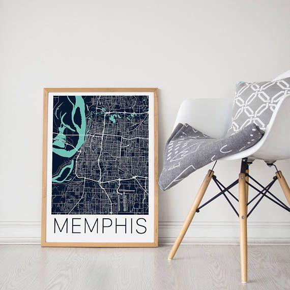 Memphis Map Print/Memphis Map Art/Memphis Map Poster/Map Art/Memphis Poster/Memphis Art/Memphis Print/Memphis TN/Memphis Gift/City Map Art