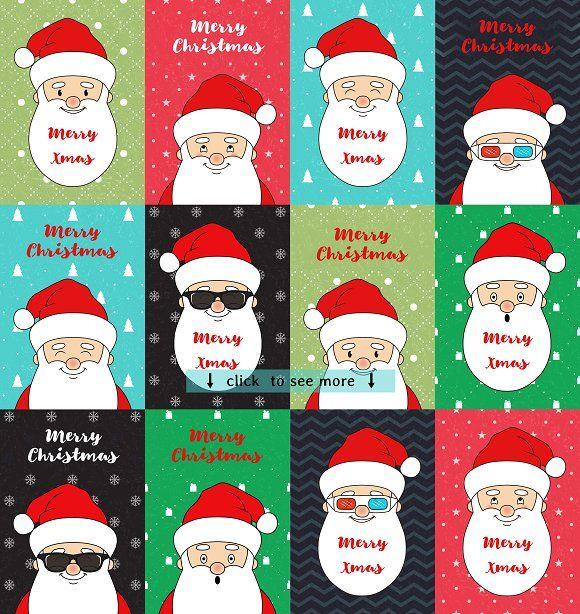 Funny Santa by Alla_Ri_Shop on @creativemarket