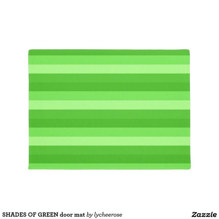 SHADES OF GREEN door mat
