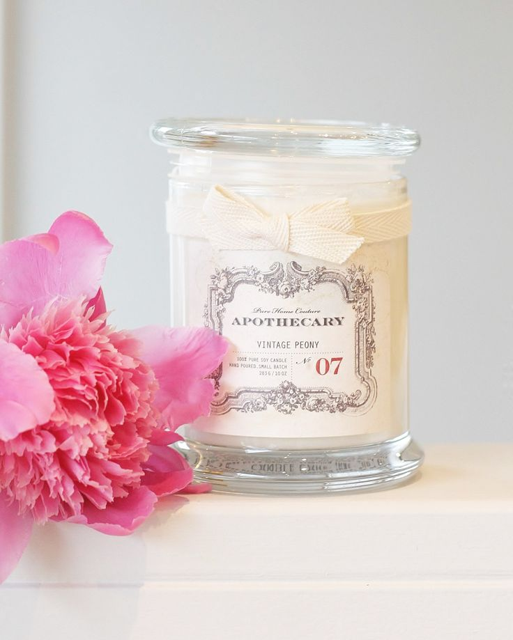 Apothecary by Pure Home Couture Vintage Peony No.07 candle