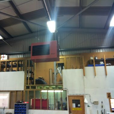 Another project involved moving a Reznor heater which had been hung over a mezz floor. Clearances around the heater were incorrect, the existing flue was incorrectly installed and it was difficult to pass the heater where it was located. We removed the heater and suspended it in the vehicle workshop. We extended the gas main and moved the existing controller downstairs onto a wall in the workshop. For further information on the services we offer please contact us…