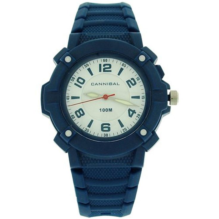 Cannibal Active Boys White Dial Luminous Hands Blue Plastic Strap Watch CJ242-05. This unique, sturdy, and trendy kids watch by Cannibal from the Active range is a high functioning timepiece which will serve any boy well. This watch is an ideal gift for him. Product Features: * Japanese movement. * White dial. * Three hands. * Stainless steel case back. * Splashproof. * 10ATM water resistant. Strap Measurements: This watch fastens with a buckle on any of the 7 holes. * Length from one end…