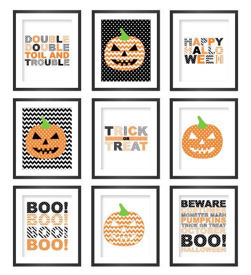 Pinterest Halloween Wall Decor : Wall decor free printable and halloween on