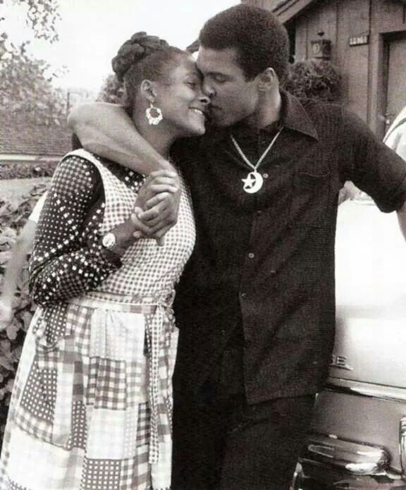Muhammad Ali and his wife in Black and White - Codeblack Icons