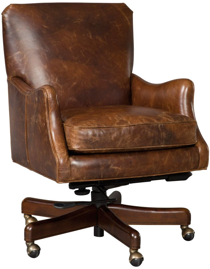 Hooker Furniture Adjustable Height Leather Office Chair From The Barke