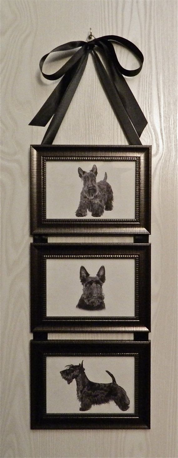 Scottish Terrier Scottie Dog Picture Frame by BirdieGirlsTreasures