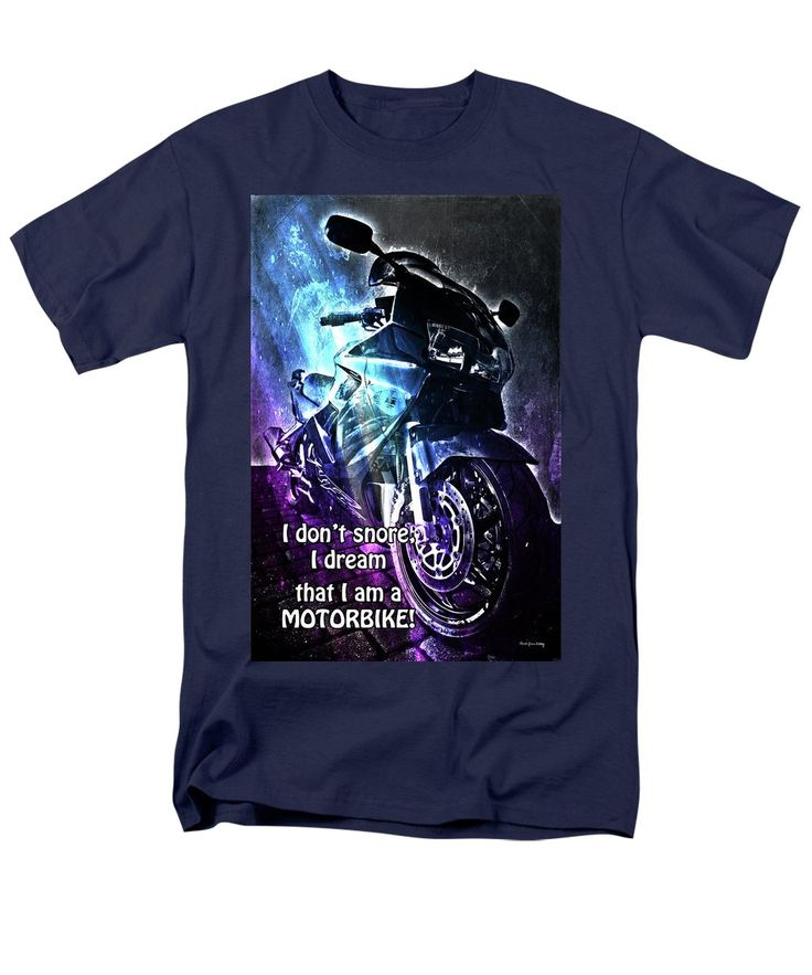Humor Men's T-Shirt (Regular Fit) featuring the photograph I Don't Snore by Randi Grace Nilsberg