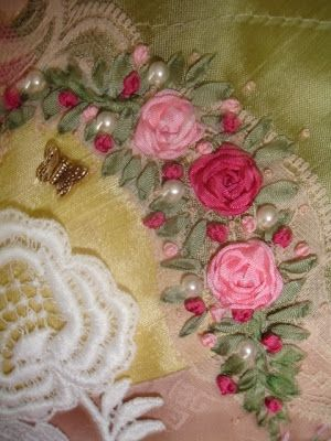 Ribbon embroidery by anne