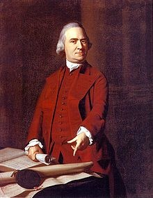 Samuel Adams was an American Patriot and one of the leaders of the Sons of Liberty. He encouraged people to boycott the Townshend acts. He urged his fellow colonists to be independant of Britain.