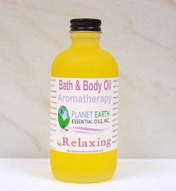 RELAXING Aromatherapy Bath & Body Oil     2oz by planetearthoils, $20.00
