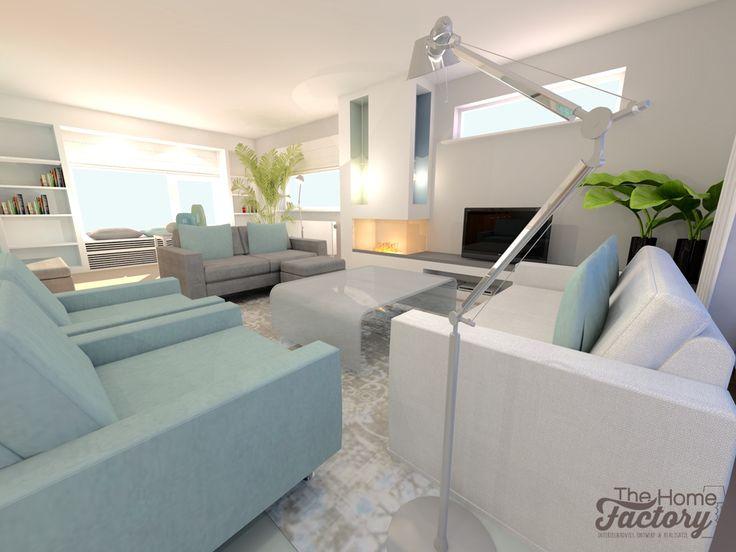 Ontwerp visualisatie woonhuis met een eigentijds for Eigentijds interieur