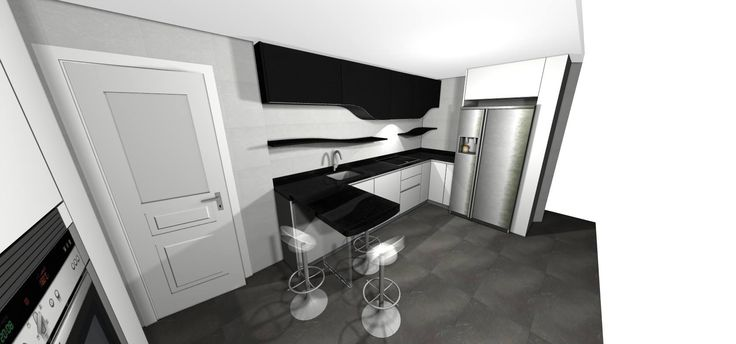 Con un 3D trabajamos juntos para que tu cocina sea como deseas #sueña #mueblesdecocina #cocinasdediseño